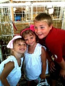 Sarah centrella's kids at the fair