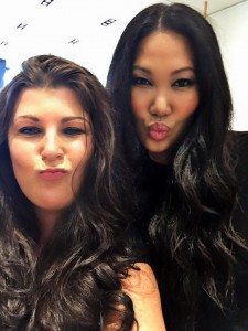 Kimora Lee Simmons and Sarah Centrella at KLS Openinng