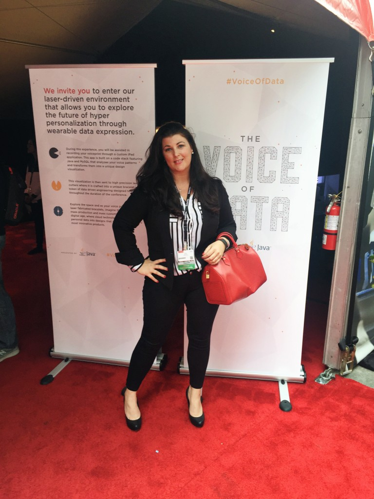 """On the Oracle red carpet for """"Voice of Data"""""""